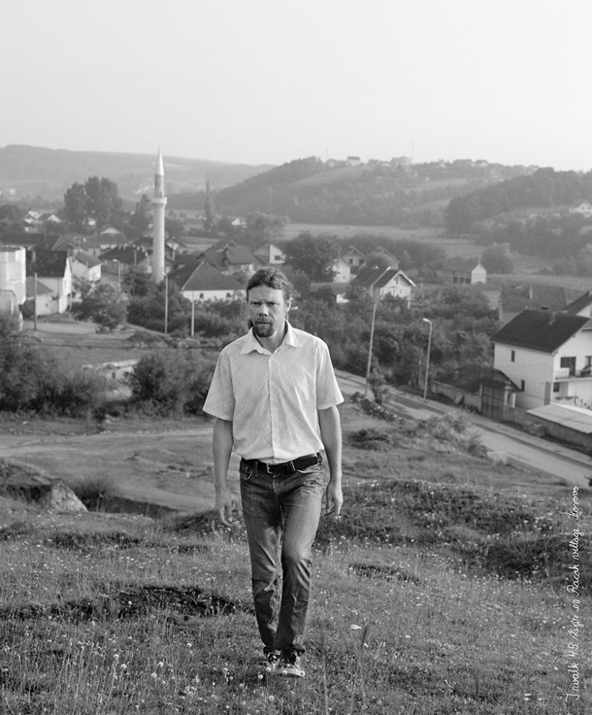 I take 45 steps in Račak village, Kosovo